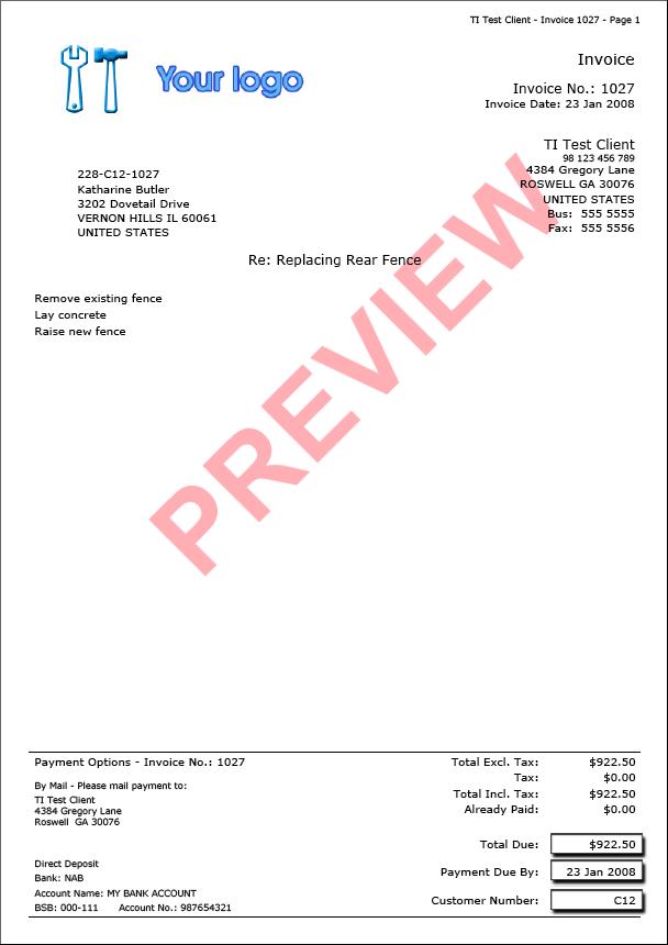 Trade Invoice - Invoice Examples
