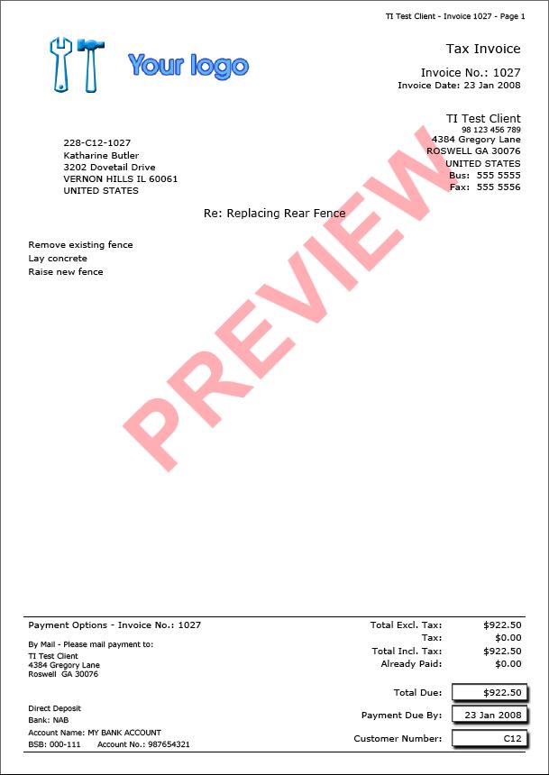 trade invoice - invoice examples, Invoice examples